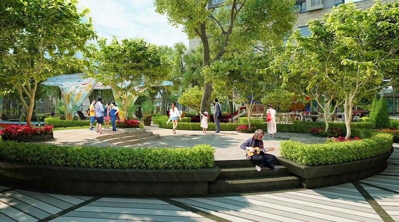 Tiện ích cây xanh khu đô thị Phú Lương