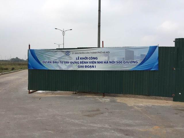 Hình ảnh thực tế công trường dự án Bệnh viện nhi II