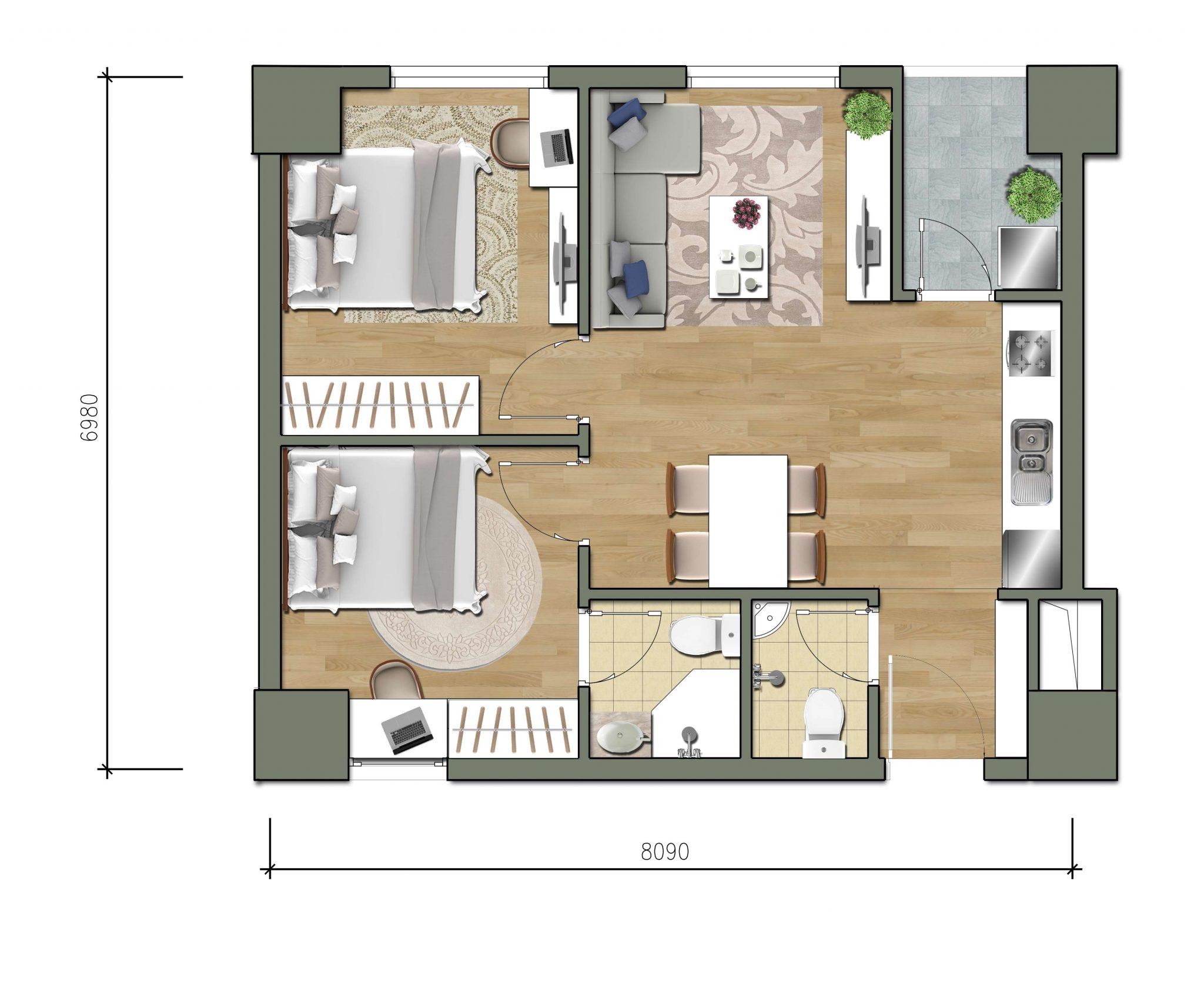 Thiết kế căn số 7 dự án Parkview Residence