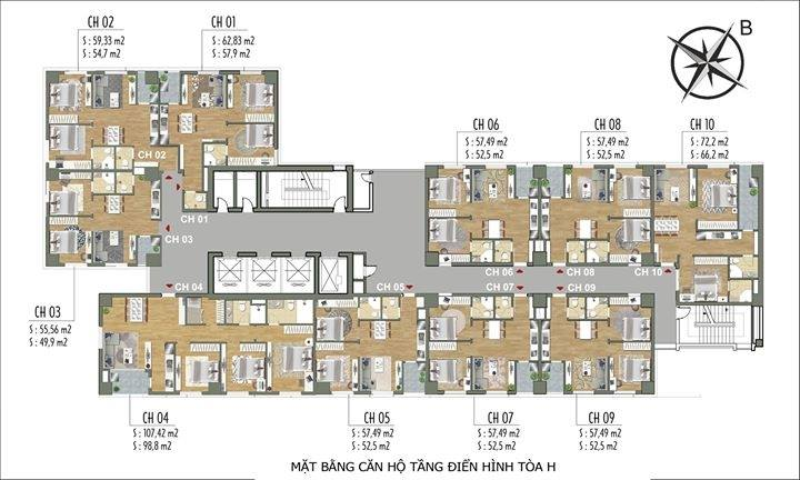 Thiết kế tòa H tầng dự án Parkview Residence