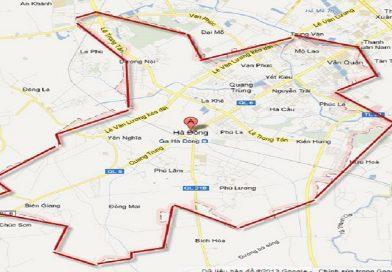 Quyết định phê duyệt chỉ giới đường đỏ 5 tuyến đường nối hạ tầng các khu đô thị và dân cư quận Hà Đông