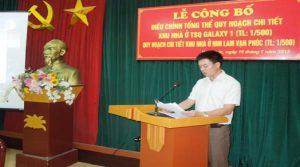 Lễ công bố điều chỉnh quy hoạch khu Vạn Phúc