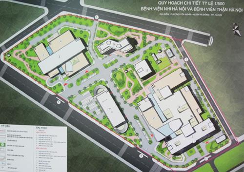 Tổng thể Quy hoạch Bệnh viện nhi II
