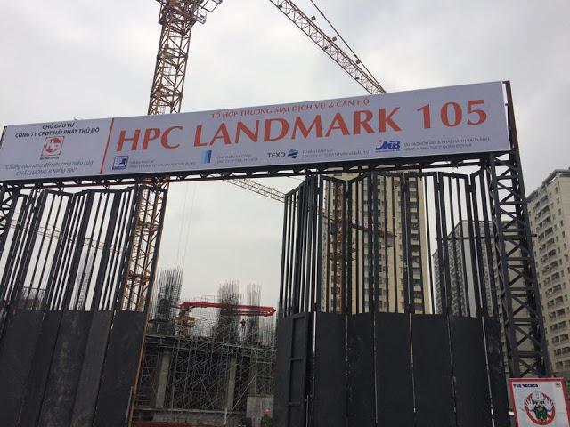 Hình ảnh công trường HPC Landmark 105