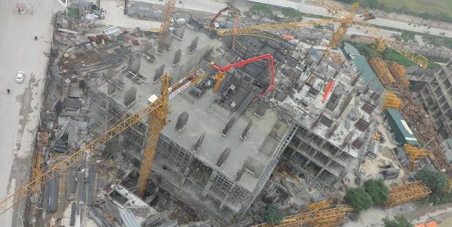 Đổ sàn tầng 5 dự án HPC Landmark 105