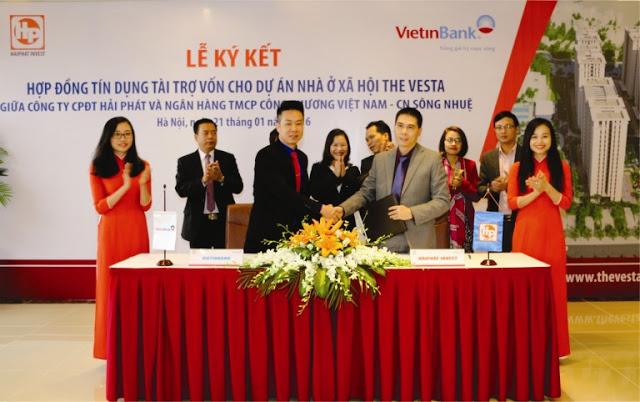 Lễ kí kết hợp đồng hợp tác giữa VietinBank và Hải Phát