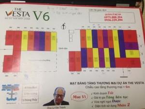 Mặt bằng kiot tòa V6 The Vesta