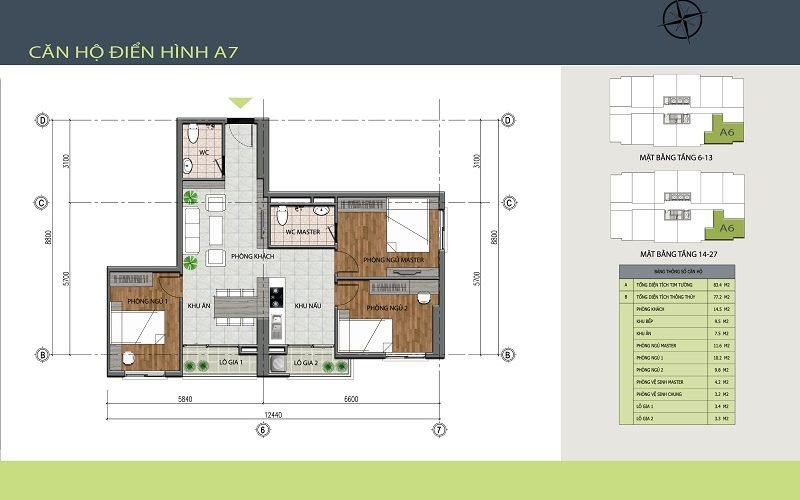 Căn A7 – Hồng Hà Tower